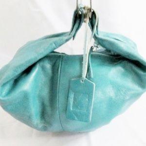 ADALGIZA LOPEZ CRESCENT Leather Banana Hobo Bag